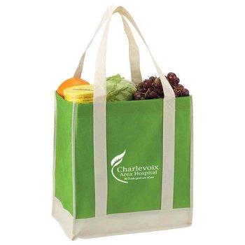Eco-Friendly Non-Woven Two-Tone Shopper Tote - Personalization Available