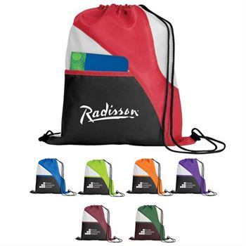 Triple Play Drawcord Sports Backpack With Pocket
