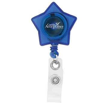 Retractable I.D. Star Badge Holder - Personalization Available