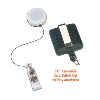 Retractable I.D. Square Badge Holders - Personalization Available