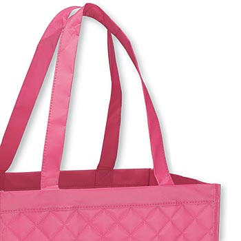 Quilted Laminated Soho Shopper Tote Bag With Large Compartment - Personalization Available