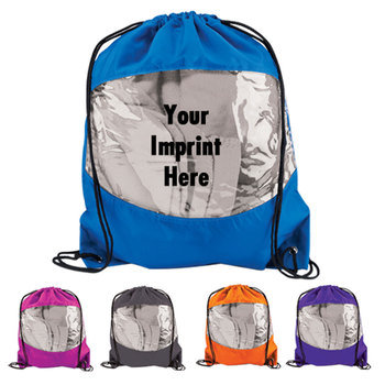 Clear View Drawstring Backpack - Personalization Available