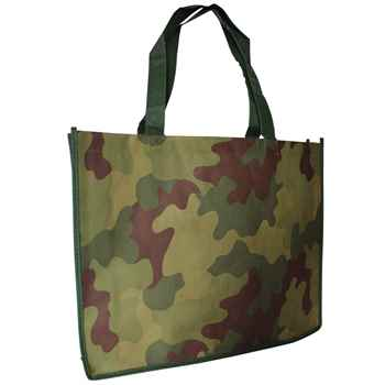 "11"" X 8 1/2"" Camo Non-Woven Tote Bag - Personalization Available"