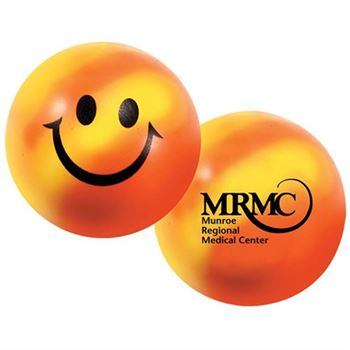 Happy Face Color-Changing Stress Ball - Personalization Available
