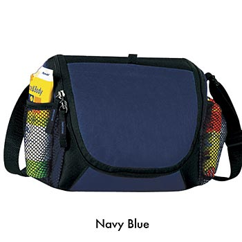 Fully Insulated 6-Pack Lunch Cooler With Velcro Closure Front Sleeve Pocket  - Personalization Available