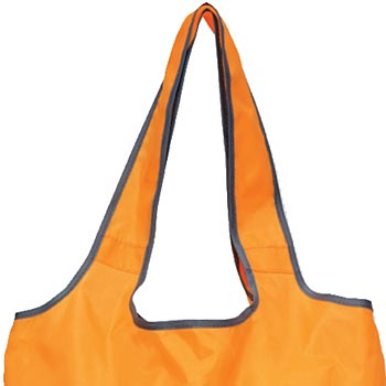 "Soft Sided On-The-Go Foldaway Shopper Tote With 18"" Shoulder Straps - Personalization Available"