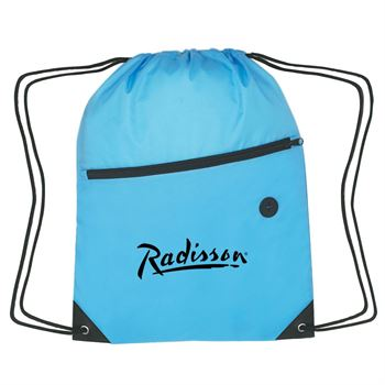 Sporty Backpack With Front Pocket - Personalization Available