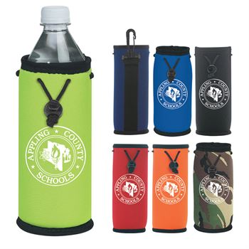 Bottle Bag With Swivel Carabiner & Drawstring Closure - Personalization Available