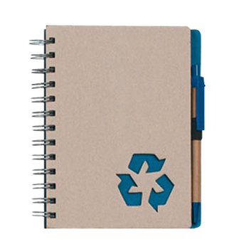 """Eco-Rich 5"""" x 7"""" Spiral Notebook & Pen - Personalization Available"""