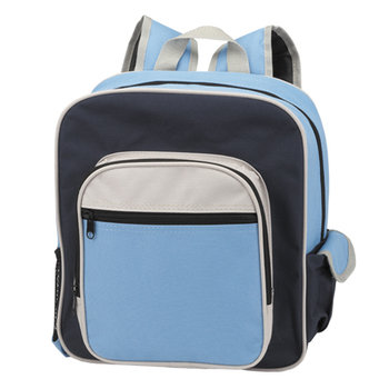 Contemporary Kid's Backpack With Side Pouch & Velcro Closure - Personalization Available