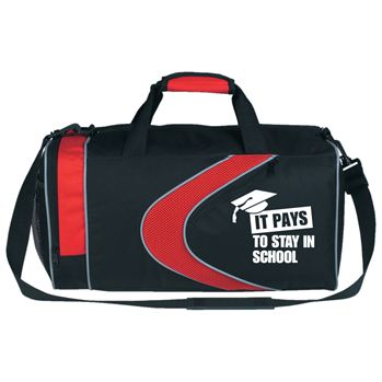 Sports Gym Bag With Top Zippered Compartment & Adjustable Shoulder Strap  - Personalization Available