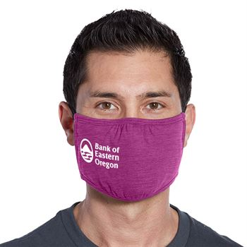 3-Ply District V.I.T. Shaped Adult Face Mask - 1 Color Personalization Available