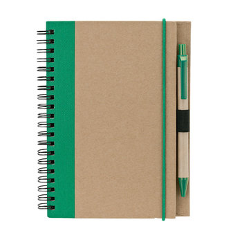 Recycled Notebook & Pen - Personalization Available