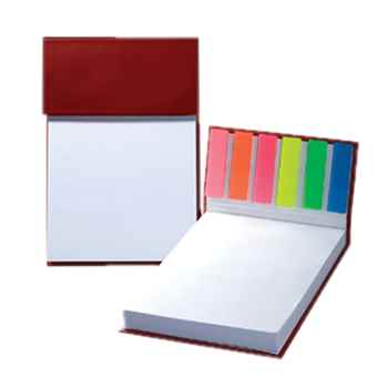 Hard Cover Sticky Flag Jotter Pad - Personalization Available