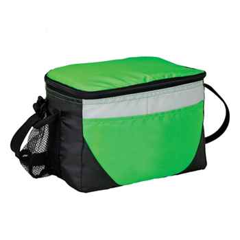 Six-Can Capacity Cooler Bag With Mesh Pocket - Personalization Available