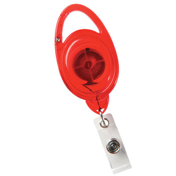 Oval Secure-A-Badge Holder - Personalization Available