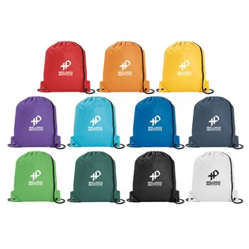 Poly Pro Drawstring Tote - Personalization Available
