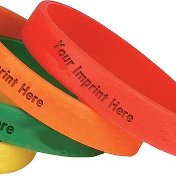 Debossed Silicone Bracelet For Adults - Personalization Available