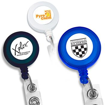 Round Retractable ID Badge-Key Holder - Personalization Available
