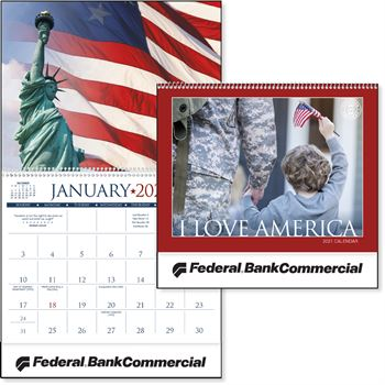 I Love America 2021 Calendar - Personalization Available