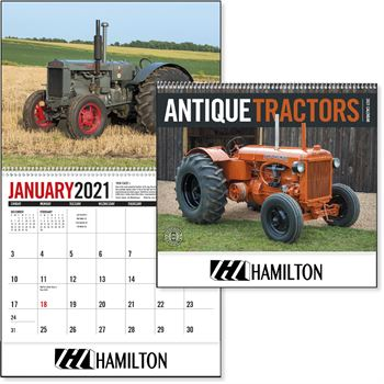 Antique Tractors 2021 Deluxe Appointment Calendar - Spiral - Personalization Available