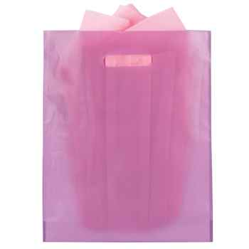 Frosted High Density Plastic Die-Cut Bag - Personalization Available