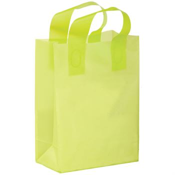 """8"""" x 11"""" Colored Frosted Shopper Bag - Personalization Available"""