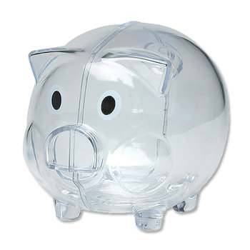 Plastic Piggy Bank - Personalization Available