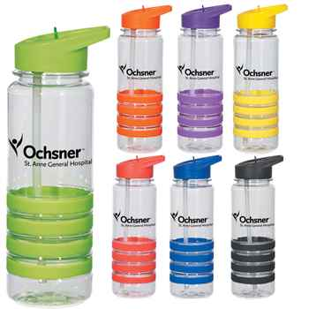 24-Oz. Banded Quatro Gripper Water Bottle - Personalization Available