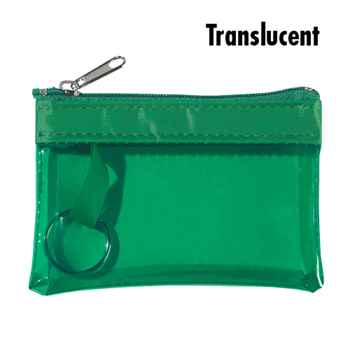 Translucent Zippered Coin Purse - Personalization Available