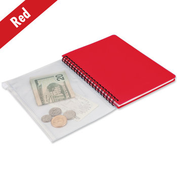 Spiral Notebook With Plastic Pouch - Personalization Available