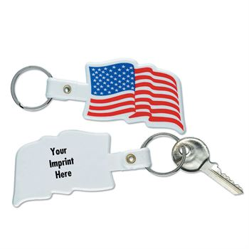 Flag-Shaped Key Tag - Personalization Available