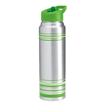 Striped Aluminum Water Bottle - 32 Oz - Personalization Available