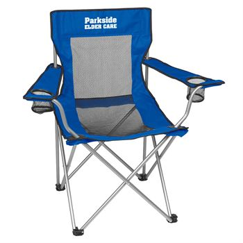 Mesh Folding Chair - Personalization Available
