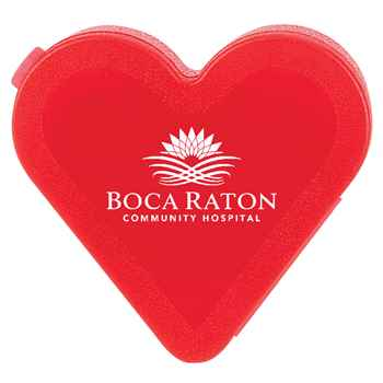 7-Day Heart-Shaped Pill Box - Personalization Available