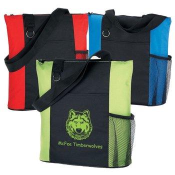 Malibu Zippered Customizable Tote Bag - Personalization Available