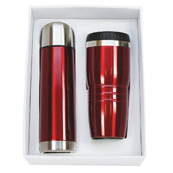 16 Oz. Stainless Steel Tumbler Set With 16.5 Oz. Thermos - Personalization Available