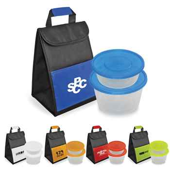 Dual Container & Lunch Bag Set - Personalization Available