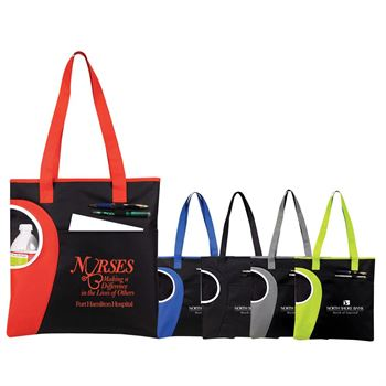 Zipper Top Bottle Tote - Personalization Available