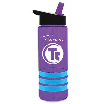 24-oz. Tritan™ Striped Water Bottle - Personalization Available