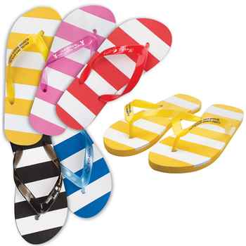 Striped Adult Flip Flops - Personalization Available