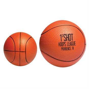 Basketball-Shaped Stress Reliever - Personalization Available