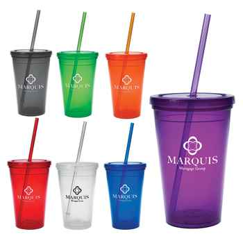 16 Oz Economy Double Wall Tumbler - Personalization Available