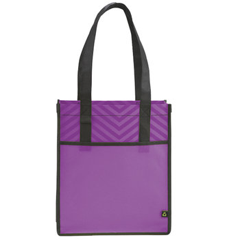 Printed Polypro Chevron Shopper Tote - Personalization Available