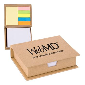Eco/Recycled Sticky Note Memo Case - Personalization Available