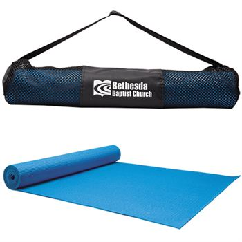 Fitness/Yoga Mat With Polyester Carry Bag - Personalization Available