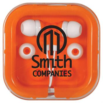 Brightly Colored Ear Buds - Personalization Available