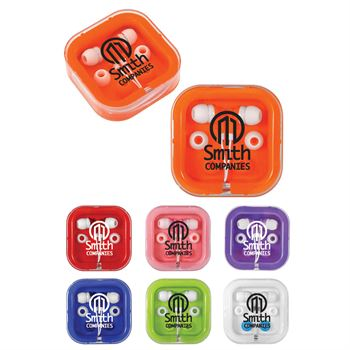 Full-Color Digital Brightly Colored Ear Buds - Personalization Available