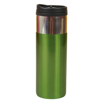 14-Oz. Chrome Band Tumbler - Personalization Available