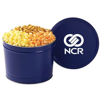 2-Gallon Gourmet 3-Way Popcorn Tin - Personalization Available